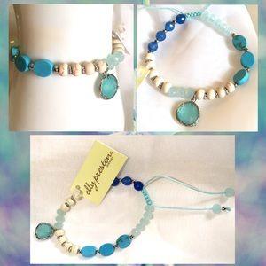 Elly Fiji Turquoise Gemstone Beaded Charm Bracelet